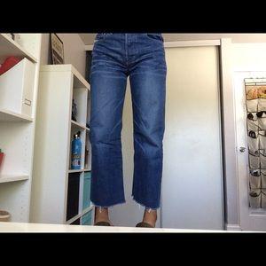 Diesel Industry Cropped Straight Leg Jeans